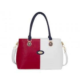 Българска дамска чанта g5322b червен, син и бял цвят