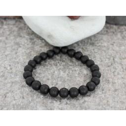 гривна от естествени полускъпоценни камъни матиран черен оникс mp78