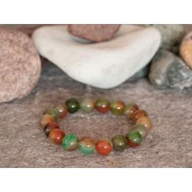 гривна от естествени полускъпоценни камъни MP052 паунов ахат