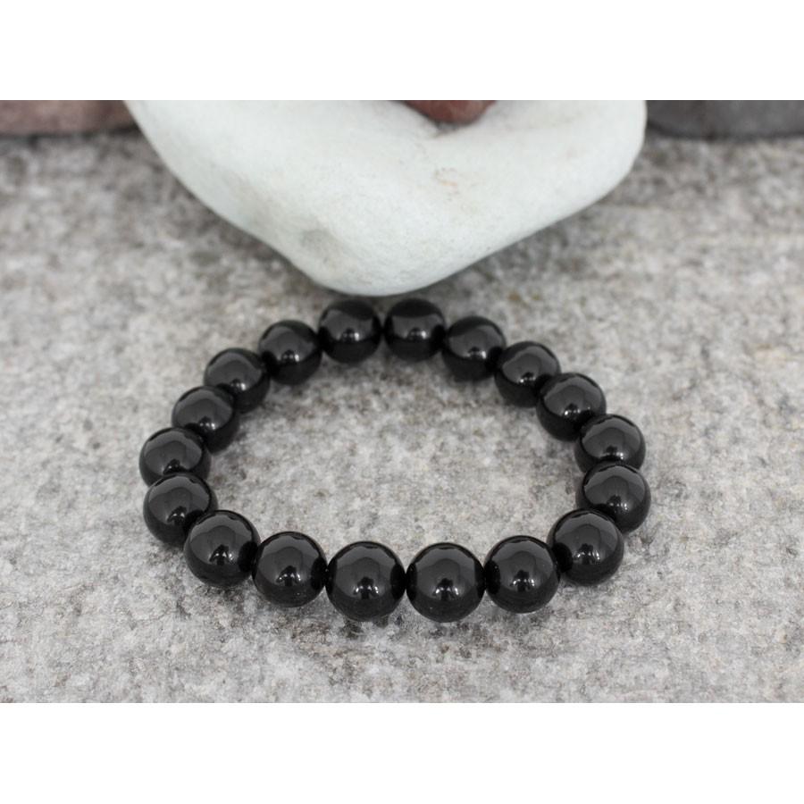 гривна от естествени полускъпоценни камъни MP79 - оникс черен цвят