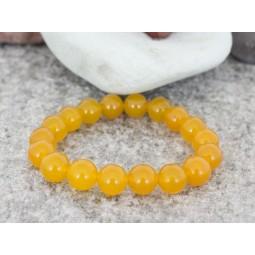 гривна от полускъпоценни камъни mp054 жълто-оранжев жадеит