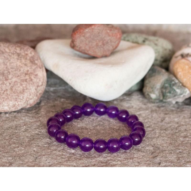 гривна от полускъпоценни камъни mp054 лилав жадеит