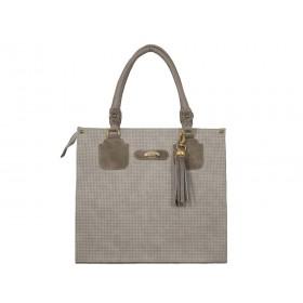 дамска чанта бежов цвят -B04595G