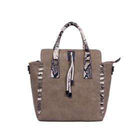 дамска чанта бежов цвят -KI3967
