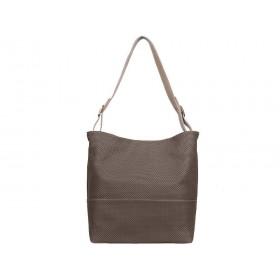 Дамска чанта две в едно кафяв цвят с бежови елементи b04436g