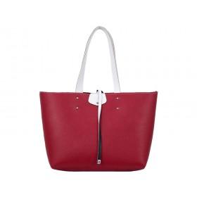 дамска чанта две в едно червен и син цвят -B04699B