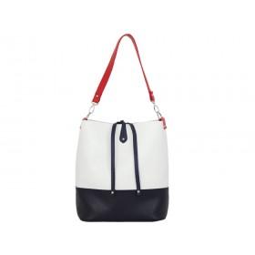 дамска чанта две в едно B54-95Z син и бял цвят