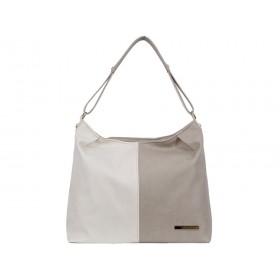 дамска чанта екрю и бежов цвят -BG0015A
