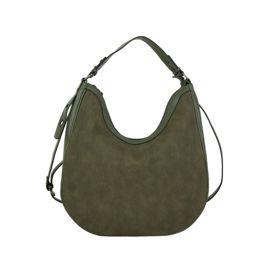 дамска чанта за рамо тъмно зелен цвят