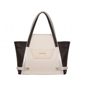 дамска чанта кафяв и бежов цвят -BG0034C