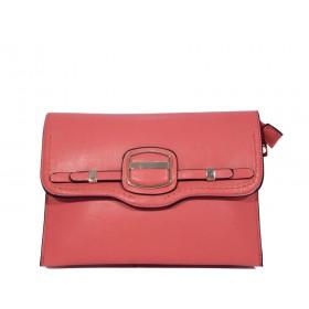дамска чанта клъч, плик K3778LM цвят керемида
