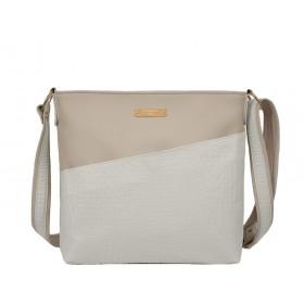 дамска чанта през рамо бежов цвят -BG0037