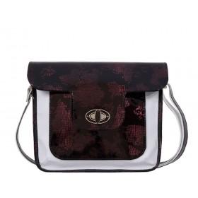 дамска чанта през рамо бял и черен цвят -B0028EG