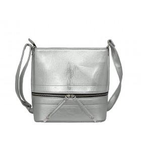 дамска чанта през рамо B52730K сребрист цвят