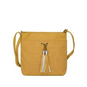 дамска чанта през рамо B55-04K горчица