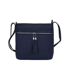дамска чанта през рамо B55-07K син цвят