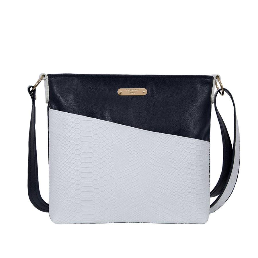 дамска чанта през рамо BG0037C син и бял цвят