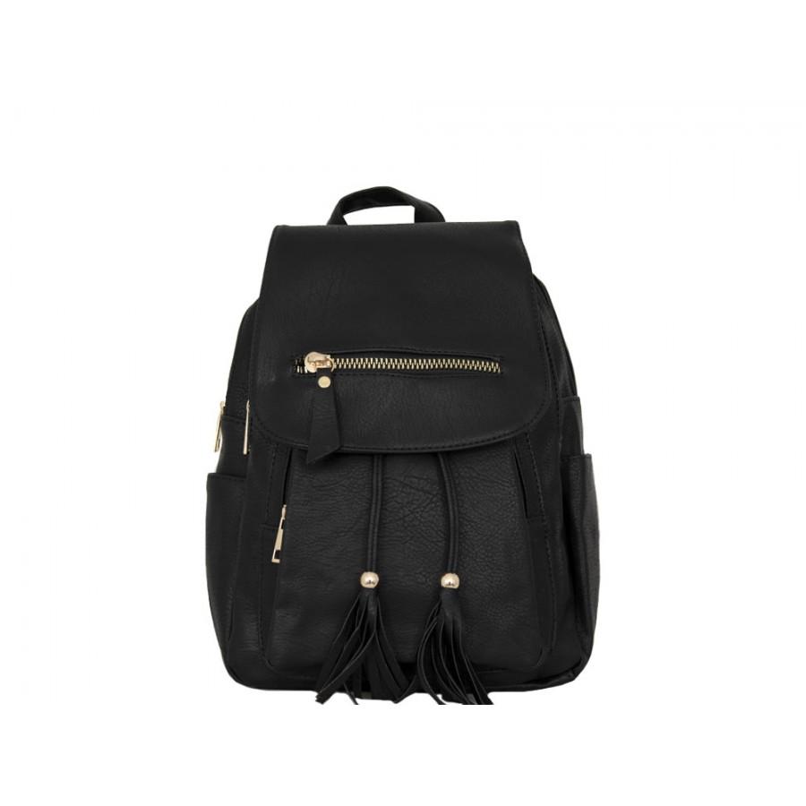 Дамска чанта раница 56vg96 черен цвят