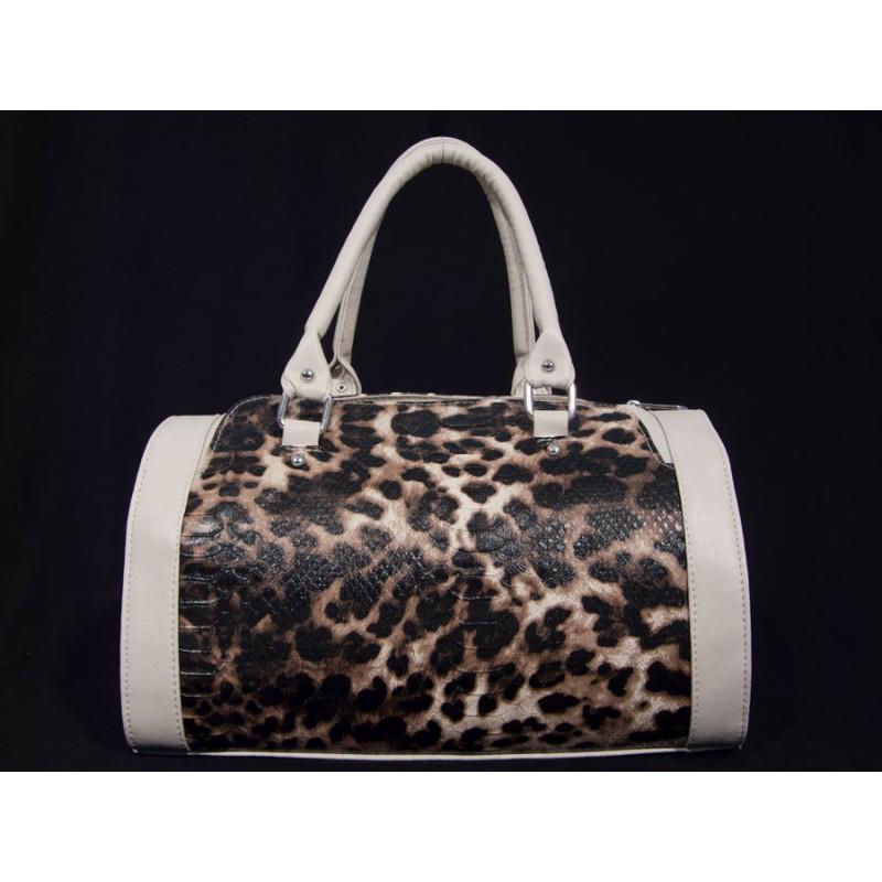 дамска чанта с леопардови мотиви - B32812G