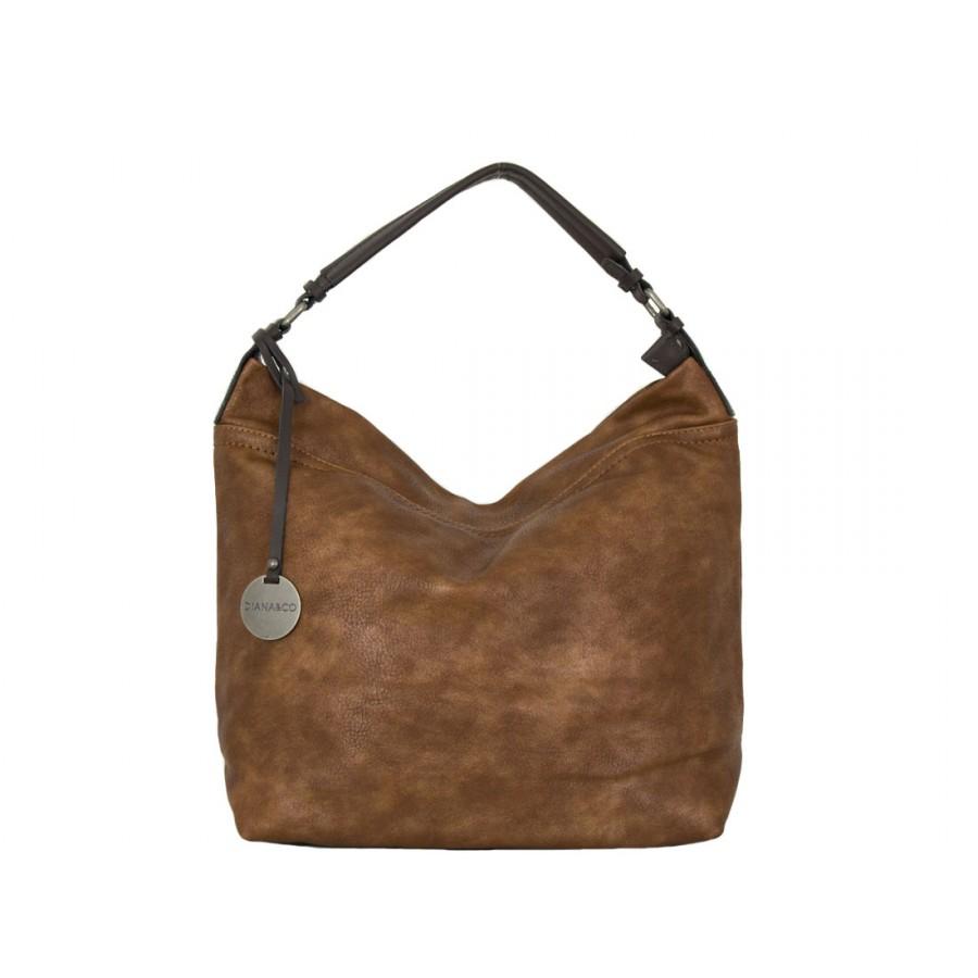 дамска чанта тип торба 56y88 в кафяв цвят