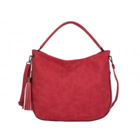 дамска чанта тип торба B05237Z червен цвят