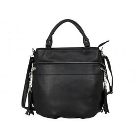 Дамска чанта тип торба g5128b черен цвят