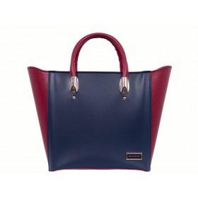 дамска чанта тъмно син и червен цвят CH024A