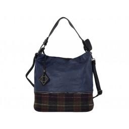 дамска чанта тъмно син и черен цвят