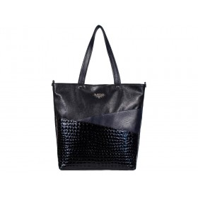 дамска чанта -B00210G- черен и син цвят