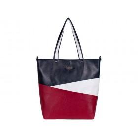 дамска чанта -B0021BG- син, бял и червен