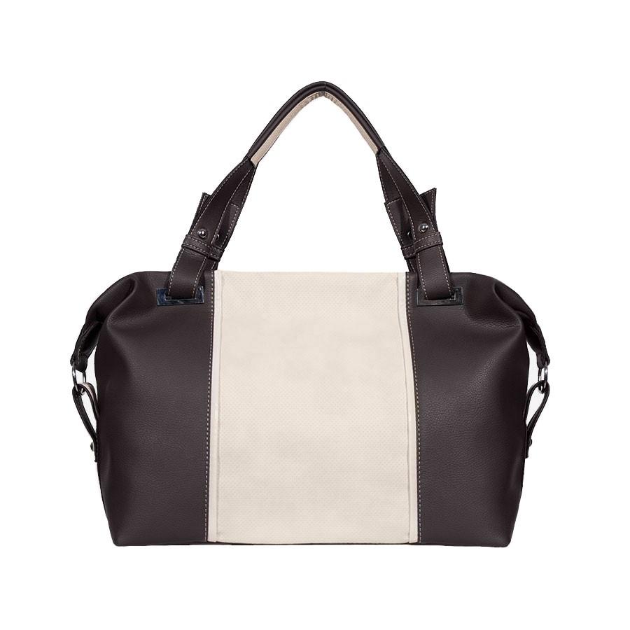дамска чанта B031BG кафяв и бежов цвят
