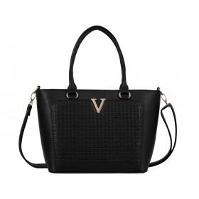 дамска чанта B4913G черно кроко