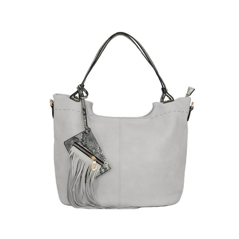 дамска чанта B5258Z сив цвят