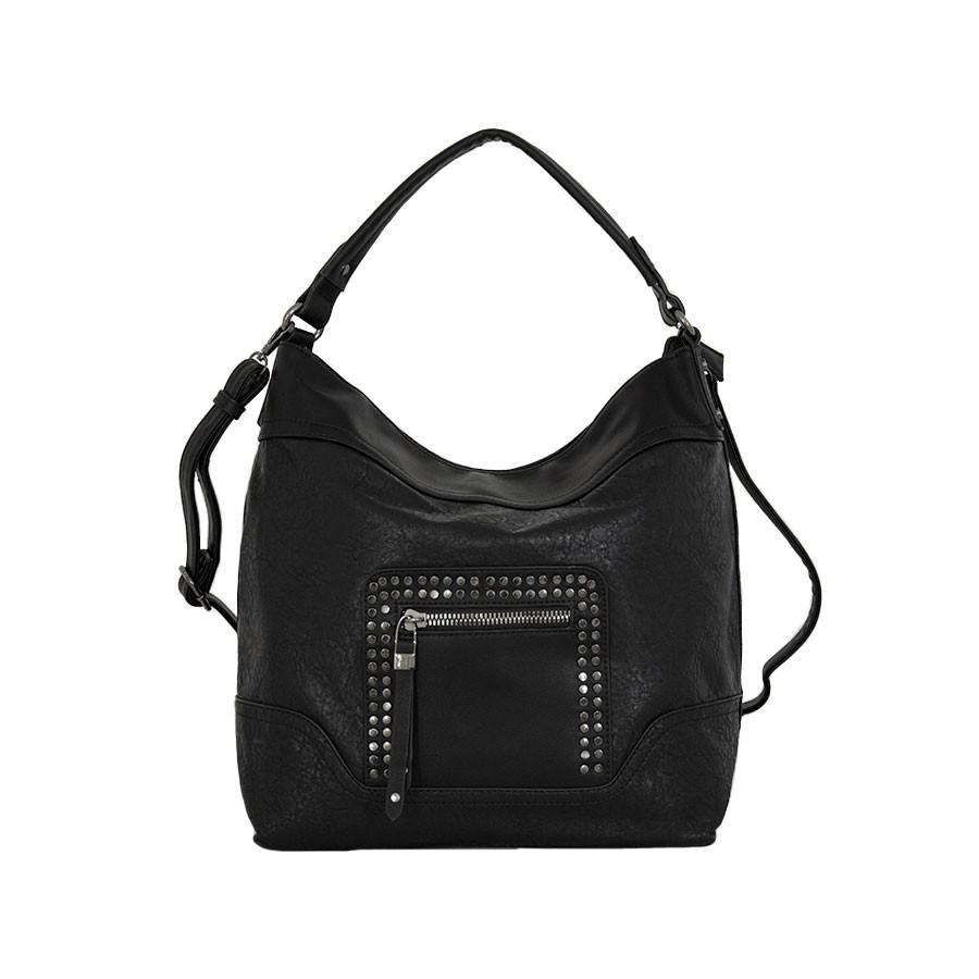 дамска чанта B54-10Z еко кожа в черен цвят