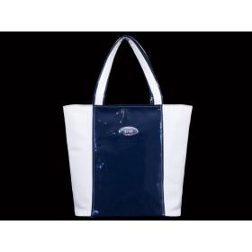 дамска чанта BG005B бял и син цвят