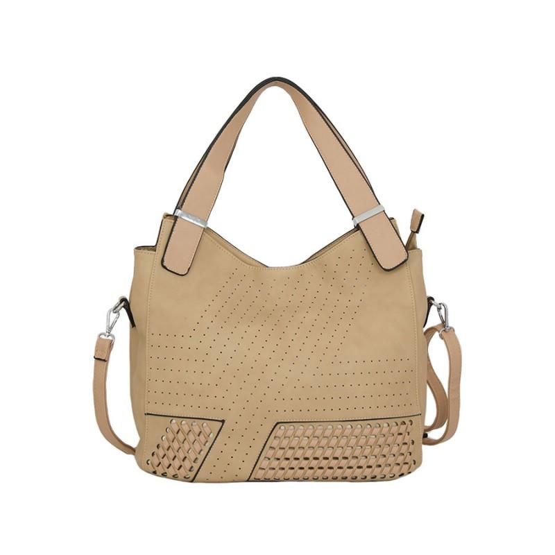 дамска чанта g05261b кремава еко кожа