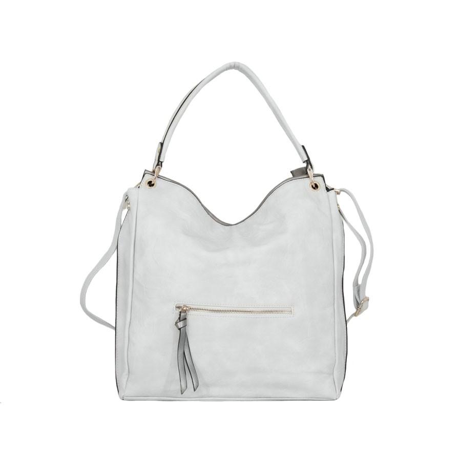 дамска чанта g55-48b светло сив и графитен металик