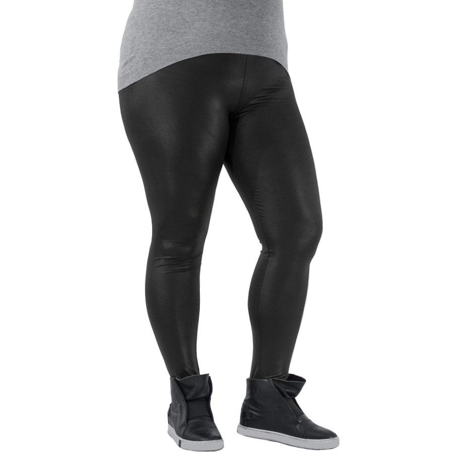Дамски клин имитация на кожа K090LL черен цвят