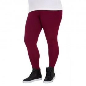 Дамски клин памук цвят бордо LP61 големи размери