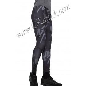 дамски спортен клин K233 сиво черно милитари