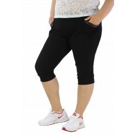 дамски 3/4 панталон големи размери K219 черен цвят