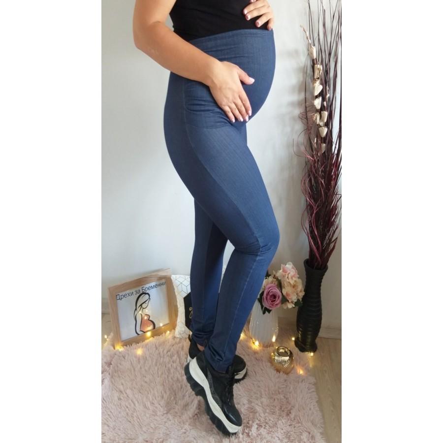 клин за бременни SB262 имитация на дънки