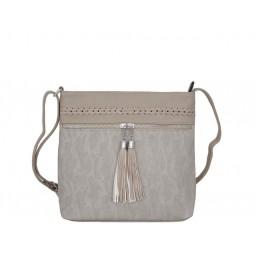 чанта през рамо с външни джобове B55-05K цвят кум