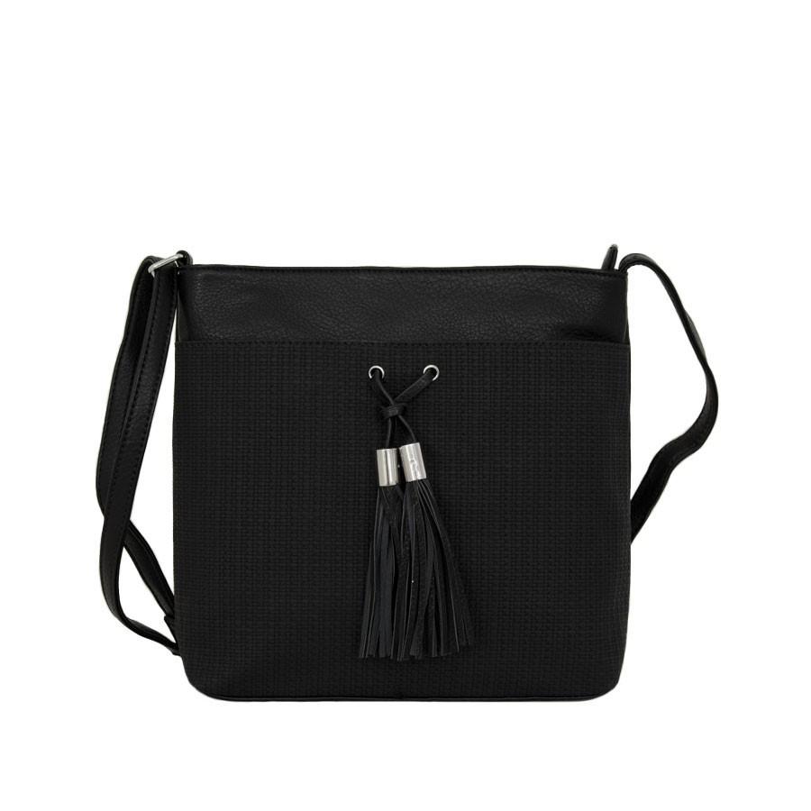 чанта през рамо с външни джобове B55-08K черен цвят