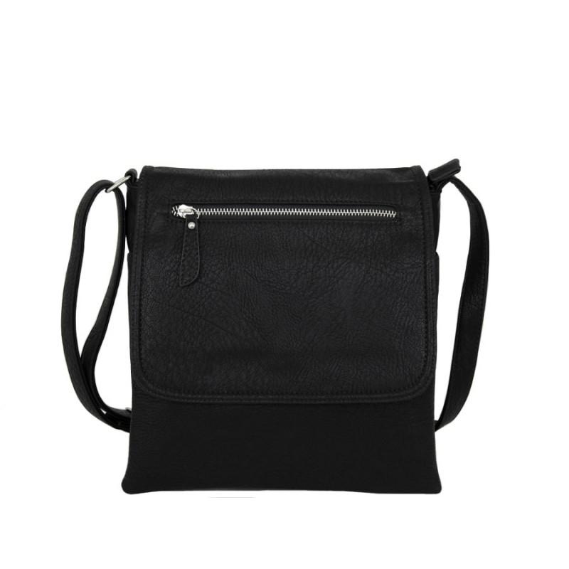 черна чанта през рамо B55-66G черен цвят